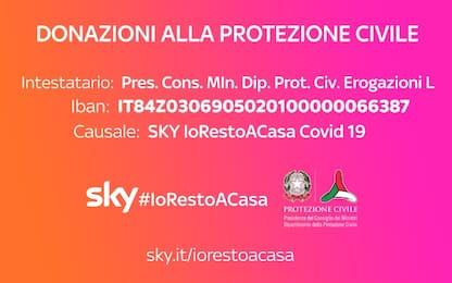 SKY#IoRestoACasa: la campagna di raccolta fondi