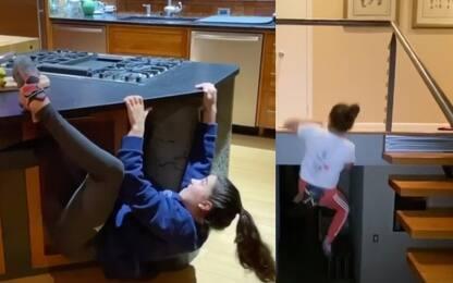 Arrampicata in casa: Brooke stupisce tutti. VIDEO