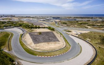 This aerial photo taken on April 30, 2020, shows Dutch Zandvoort circuit, in Zandvoort, the Netherlands. - The Formula 1 Grand Prix was supposed to be held during the first weekend of May, but it has been canceled because of the coronavirus pandemic caused by the novel coronavirus. (Photo by Sem VAN DER WAL / ANP / AFP) / Netherlands OUT (Photo by SEM VAN DER WAL/ANP/AFP via Getty Images)