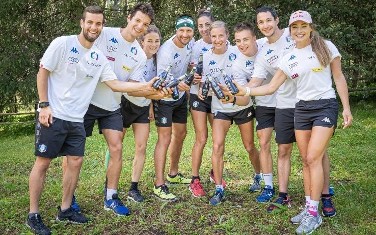 Nazionale italiana di Biathlon ad Anterselva con FORST 0,0% (foto di Helmut Moling)