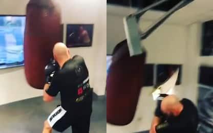 Fury, allenamento esagerato: rompe il tetto. VIDEO
