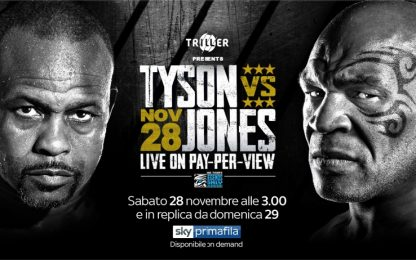 Tyson vs Jones, l'incontro live su Sky in PPV