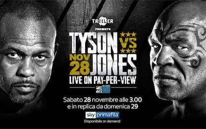 Tyson vs Jones, l'incontro live su Sky. La guida