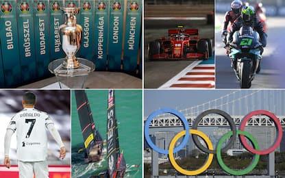 Da Euro alle Olimpiadi, l'agenda sportiva del 2021