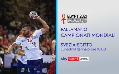 Mondiali Pallamano, oggi Svezia-Egitto live su Sky