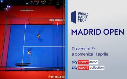 Padel, al via oggi il Madrid Open. LIVE su Sky