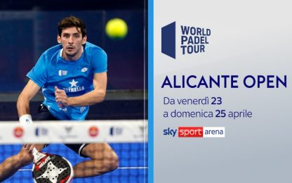 World Padel Tour, su Sky l'Alicante Open