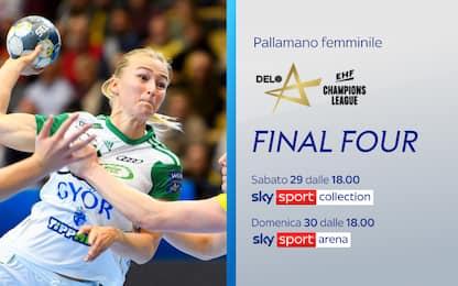 Pallamano, Champions femminile: la Final 4 su Sky