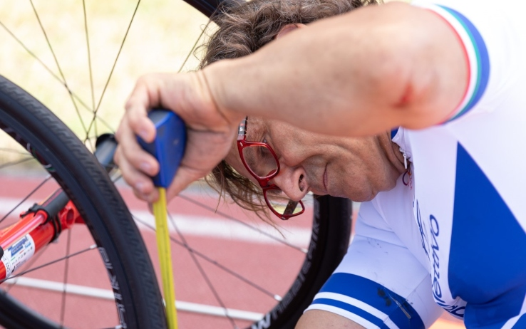 Alex Zanardi sistema bicicletta