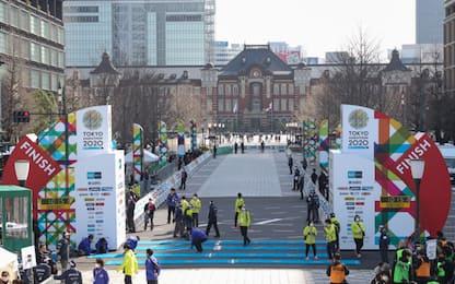Coronavirus, la desolata Maratona di Tokyo. FOTO