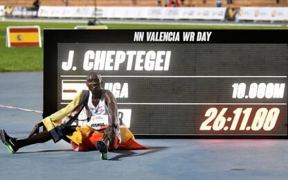 Cheptegei record sui 10mila m, Gidey nei 5mila