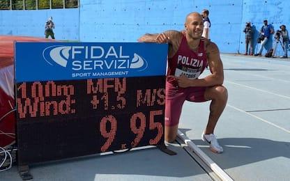 Jacobs, nuovo record italiano dei 100 metri: 9,95!