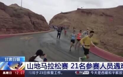 Cina, bufera su corsa in montagna: 21 morti