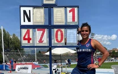 Record italiano nell'asta di Roberta Bruni: 4.70 m