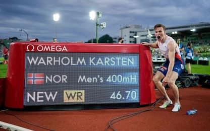 400hs, record del mondo per il norvegese Warholm