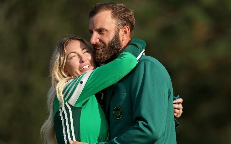 Dustin Johnson e la moglie Paulina (Getty)