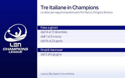 Pallanuoto, la Champions League è live su Sky
