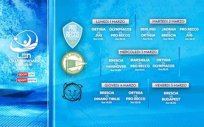 Champions pallanuoto, tre italiane in acqua