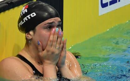 Straordinaria Pilato: record mondiale nei 50 rana