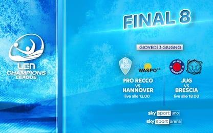 Pallanuoto, la Final 8 di Champions LIVE su Sky
