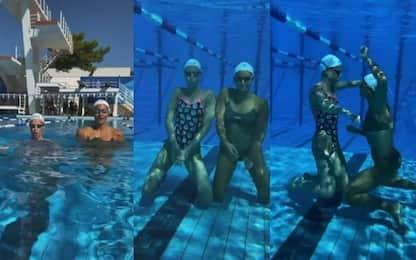 Pellegrini&Carraro, che balletto sott'acqua!