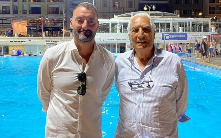 Eraldo Pizzo con Maurizio Felugo, il presidente ex campione