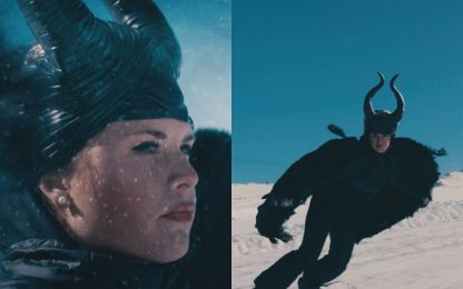 Moioli come Angelina, Maleficent in snowboard