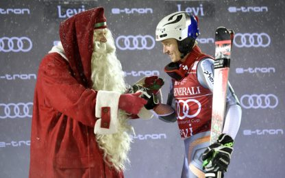 Slalom Levi: vince Kristoffersen, Moelgg decimo