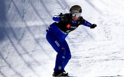 Snowboardcross, Moioli seconda a Montafon