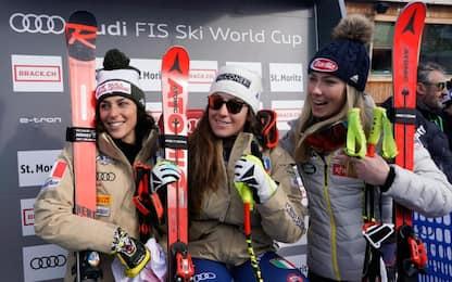 Goggia vince SuperG St. Moritz davanti a Brignone