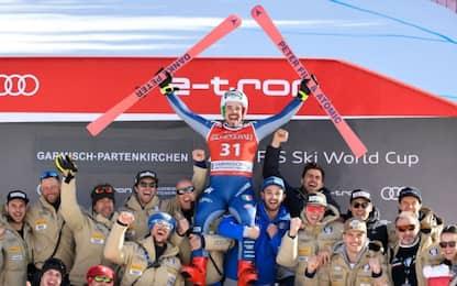Dressen trionfa a Garmisch. Applausi per Fill