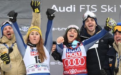Doppietta Italia a Sochi: Brignone vince su Goggia
