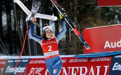 "Ancora Brignone, seconda a Garmisch: ""Fantastico"""