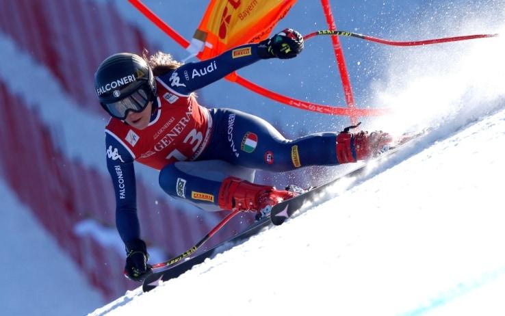 Sofia Goggia in azione (foto Getty)