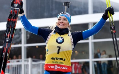 Biathlon, Wierer oro mondiale nell'inseguimento