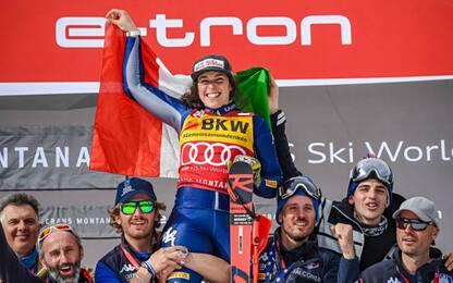 Brignone vince a Crans: nuova leader in generale