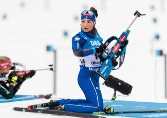 OBERHOF, GERMANY - JANUARY 04:  Dorothea Wierer of Italy looks on prior to the 7.5 km IBU World Cup Biathlon Oberhof women's Sprint on January 4, 2018 in Oberhof, Germany.  (Photo by Boris Streubel/Getty Images)