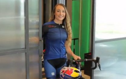 Dorothea Wierer pedala verso l'inverno 2021