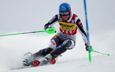 LEVI, FINLAND - NOVEMBER 21: Petra Vlhova of Slovakia in action during the Audi FIS Alpine Ski World Cup Women's Slalom on November 21, 2020 in Levi Finland. (Photo by Christophe Pallot/Agence Zoom/Getty Images)