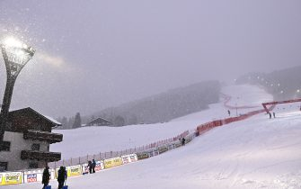 BORMIO, ITALY - DECEMBER 28: General view of the ski slope before the Audi FIS Alpine Ski World Cup Super Giant Slalom on December 28, 2020 in Bormio, Italy. (Photo by Mattia Ozbot/Getty Images)
