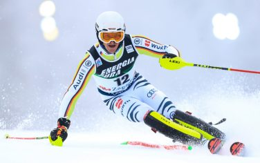 ZAGREB, CROATIA - JANUARY 06: Linus Strasser of Germany during the Audi FIS Alpine Ski World Cup Slalom on January 6, 2021 in Zagreb, Croatia. (Photo by Slavko Midzor/Pixsell/MB Media/Getty Images)