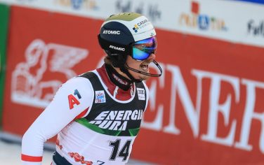 ZAGREB, CROATIA - JANUARY 06: Manuel Feller of Austriatakes 2nd place  during the second run of Audi FIS Alpine Ski World Cup Men's Slalom on January 6, 2021 in Zagreb, Croatia. Photo: Slavko Midzor/PIXSELL