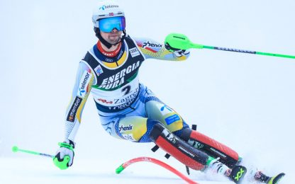 Slalom Flachau, vince Foss-Solevaag. Moelgg 13°
