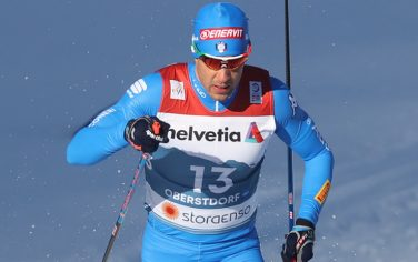 25 February 2021, Bavaria, Oberstdorf: Nordic skiing: World Championship, cross-country, sprint classic, men. Federico Pellegrino from Italy in action. Photo: Karl-Josef Hildenbrand/dpa