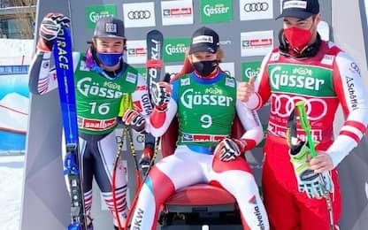 SuperG Saalbach: vince Odermatt, 12esimo Tonetti
