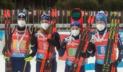 Biathlon, Italia 2a nella staffetta mista