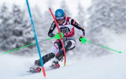 Coppa alla Vlhova, festa Liensberger in slalom