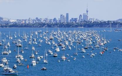 Tutti in barca: la finale vista dal mare. FOTO