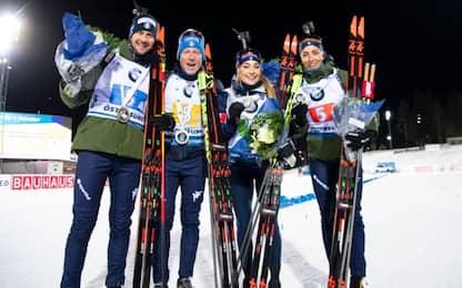 Biathlon, Italia d'oro nella staffetta mista