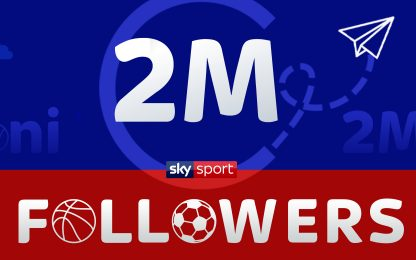 Sky Sport, raggiunti 2mln followers su Instagram